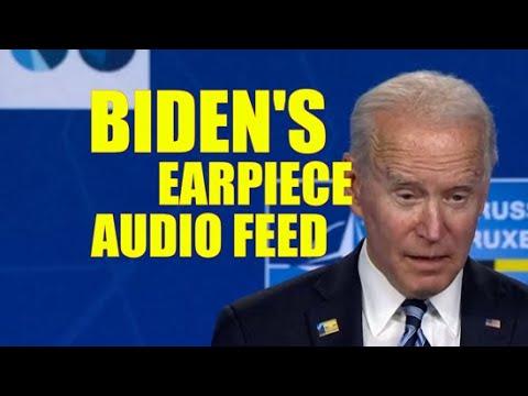 Biden's Earpiece Audio Feed 👀..... Biden Speech at the NATO Summit [Behind the Scenes]