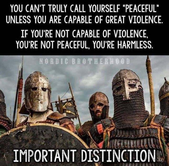 Interesting take on Peaceful vs Violent