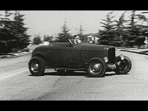 Hot Rod Blues - Ford 32 Deuce Coupe - Fenderless 3 window - Three String Red Dog Cigar Box Guitar