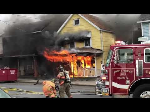Explosions at Williamstown, PA Fire