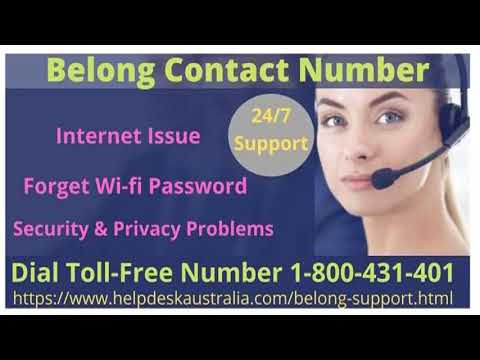 Resolve Internet Issues From Belong Contact Number 1-800-431-401