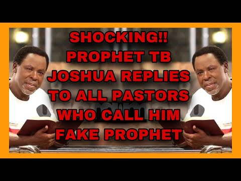SHOCKING!! Prophet TB Joshua Left A Reply To All Pastors Who Called Him A Fåke Prophet Of God