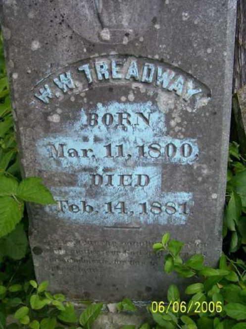 wm treadway 1800 headstone