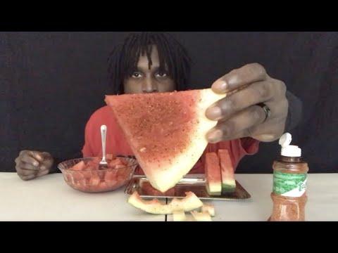 🍉🍉 Watermelon Mukbang with Tajin seasoning 🔥  They finally got some Watermelon at Walmart Wedsday 🍉🍉