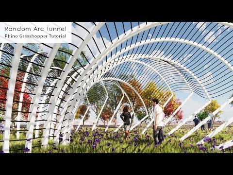Random Arc Tunnel Pavilion Rhino Grasshopper Tutorial