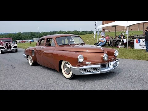 Studebaker Parade Lead By the Tucker 48 At the AACA Museum Cruise In