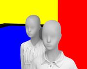 giovani d'oggi grigi in un mondo colorato