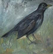 mes oiseaux huile 0,20x0,20