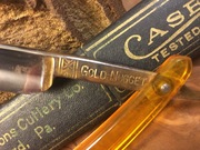 """Tang stamp from Tested """"Gold Nugget"""" razor"""