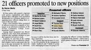 Promotions - December 14, 2006