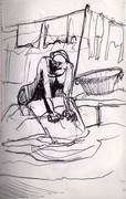 lavar no rio