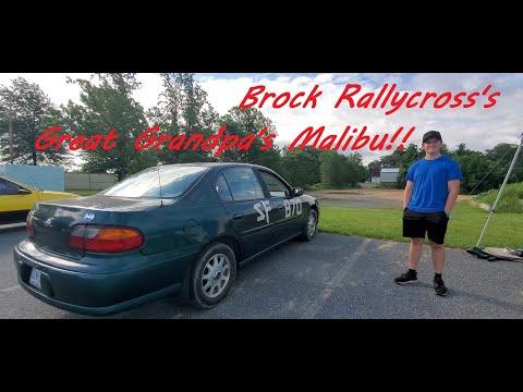 Brock's First RallyCross In Great Grandpa's Malibu