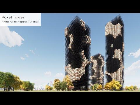 Voxel Tower Rhino Grasshopper Tutorial