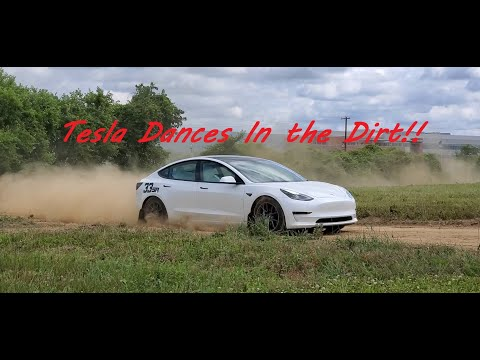 Tesla 3 Dances In the Dirt Rallycross!