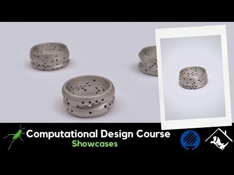 No.7_Computational Jewelry Design with Grasshopper3D & Rhino3D