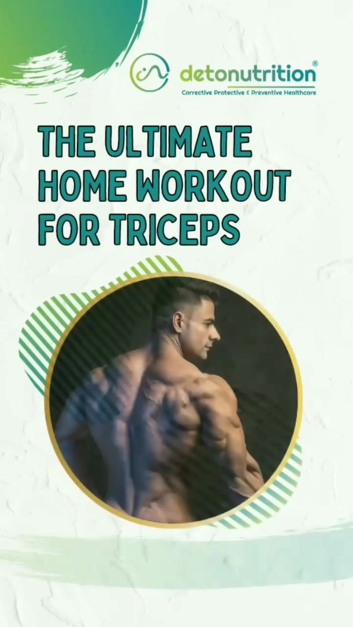 Ultimate home workout for triceps | Detonutrition India