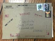 Amber Scribble Envelope Front