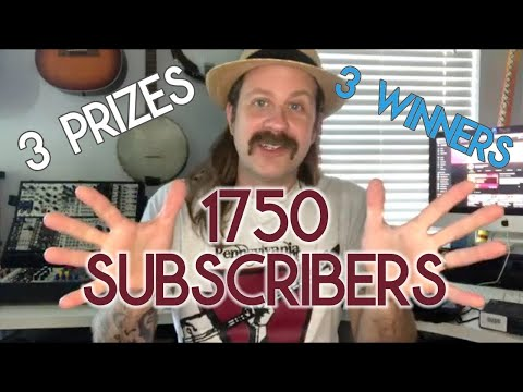 1750 SUBSCRIBER GIVEAWAY: Rules & How To Get Entered