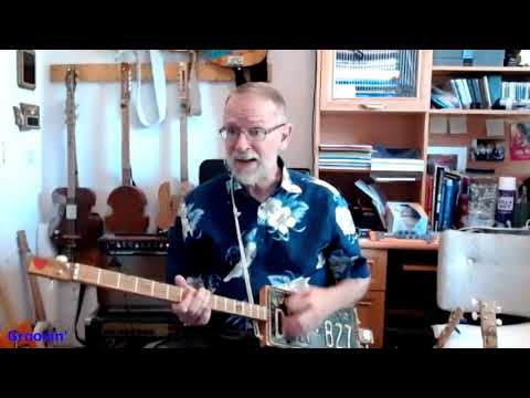 Groovin: 2-String License Plate Chugger (Not a Cigar Box Guitar)