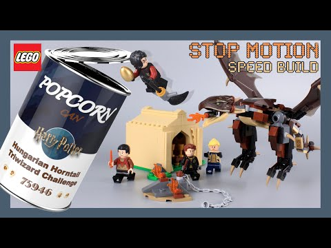 LEGO Harry Potter Hungarian Horntail Triwizard Challenge 75946 Stop Motion Speed Build Review
