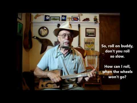 Nine Pound Hammer - traditional - on home made guitar and harp.