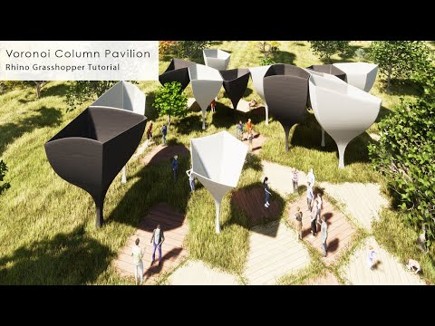 Voronoi Column Pavilion Rhino Grasshopper Tutorial