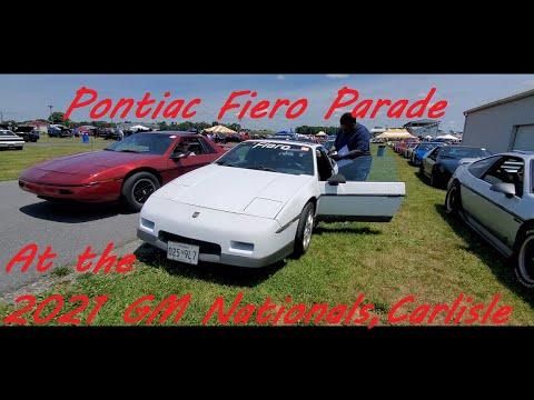 Pontiac Fiero Parade At the 2021 GM Nationals, Carlisle