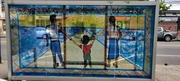 Man Woman Child Vacunate mural
