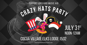 Crazy Hats Party to Support Brevard Music Aid, Saturday, July 31, Noon to Midnight