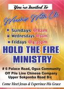 Hold The Fire Ministries