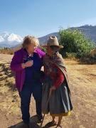 gail and peruvian lady.