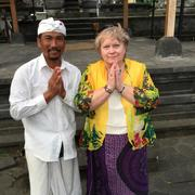 Bali.With the Priest