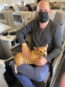 airline support animals José Balido with Papito