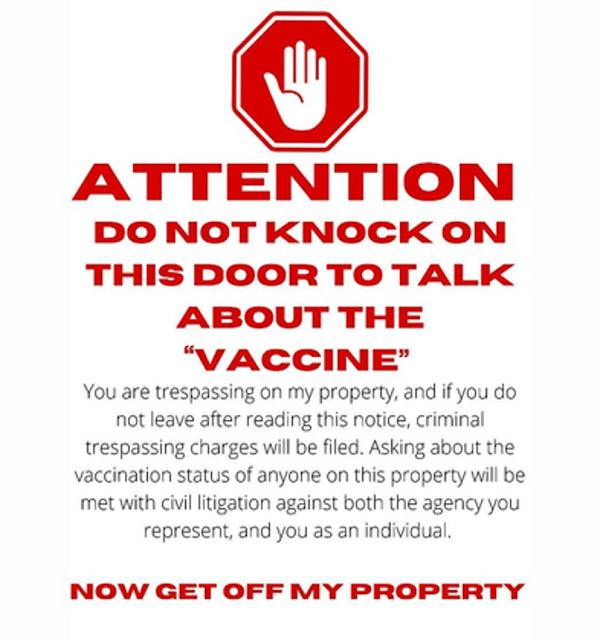 Mandatory Door sign
