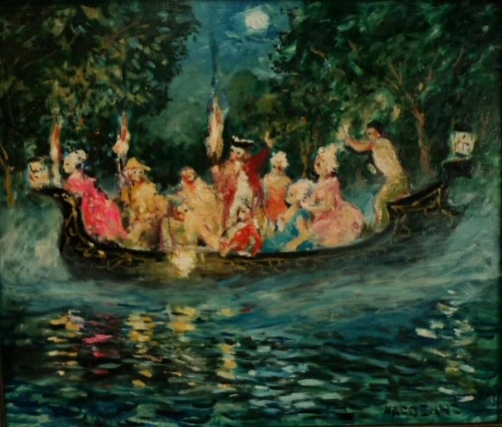 """Vivaldi pour """"La barque aux esprits"""", une oeuvre de Claude Hardenne"""