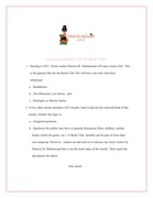 Guidelines for Book Club (@pmmuhammadbooks)