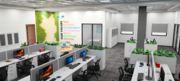 Office Space Creation by TRIDIVA INTERIORS