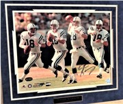 PEYTON MANNING SIGNED IN ACTION COLLAGE