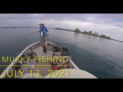 MUSKY CATCH & RELEASE | Niagara River with Tony Scime / Louis Long (July 13, 2021).