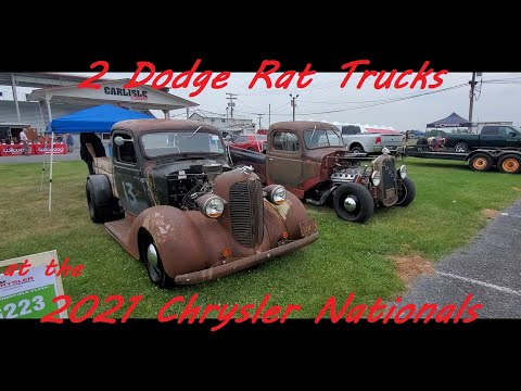 PJ and Paul's Dodge Rat Trucks ( at the 2021 Chrysler Nationals Carlisle )
