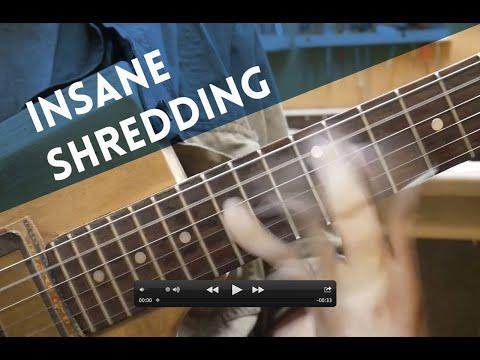 Miku's famous ultra fast guitar shredding method