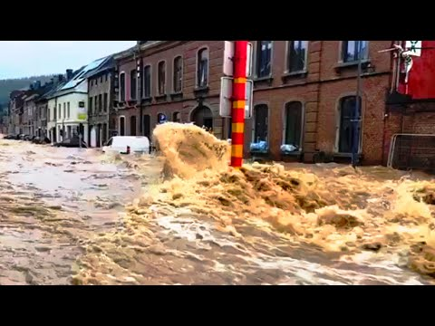 Update: Terrible flood destroys Belgium - Streets turned into rivers