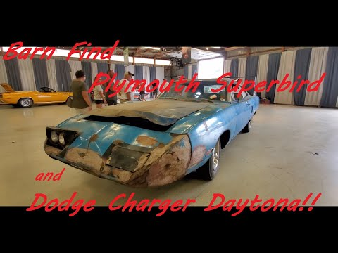 Winged Barn Finds Plymouth Superbird and Dodge Charger Daytona ( 2021 Chrysler Nationals )