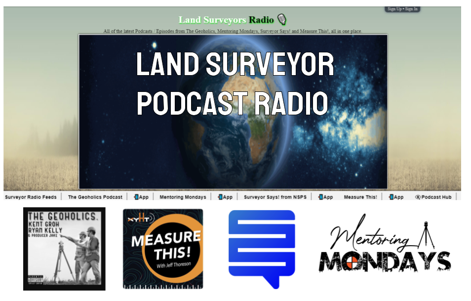 Land Surveyor Radio Toolkit: All the Surveyor Podcasts in One Place