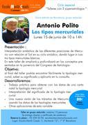 """Taller """" Los tipos Mercuriales con Antonio Polito"""