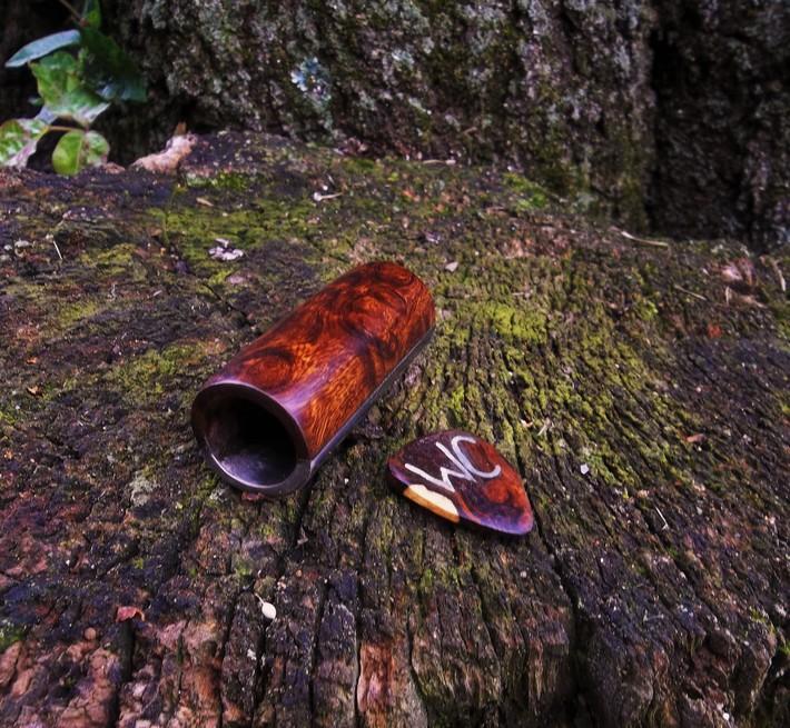 "Titanium n Ironwood burl - guitar slide 2 1/2"" L."
