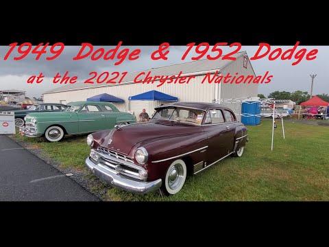 1949 Dodge and 1952 Dodge at the 2021 Chrysler Nationals, Carlisle
