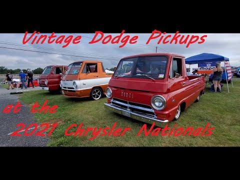 Classic Dodge Pickups at the 2021 Chrysler Nationals, Carlisle