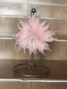 Feather flower hair pin
