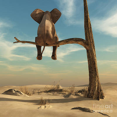 Elephant on a Thin Branch